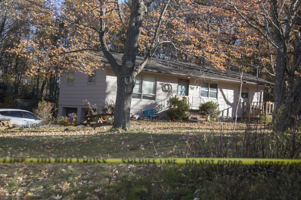 Barron County Sheriff's remained at the scene of the home where 13-year-old Jayme Closs lived with her parents James, and Denise Wednesday Oct. 17, 20...