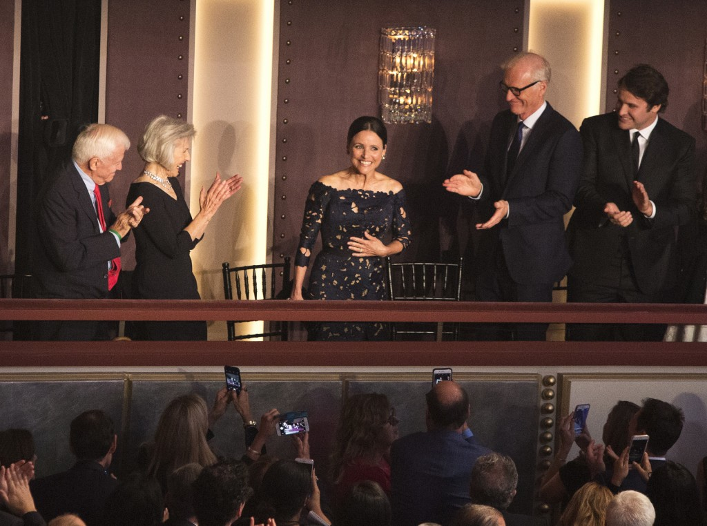 Julia Louis-Dreyfus is honored with the Mark Twain Prize for American Humor at the Kennedy Center for the Performing Arts on Sunday, Oct. 21, 2018, in...