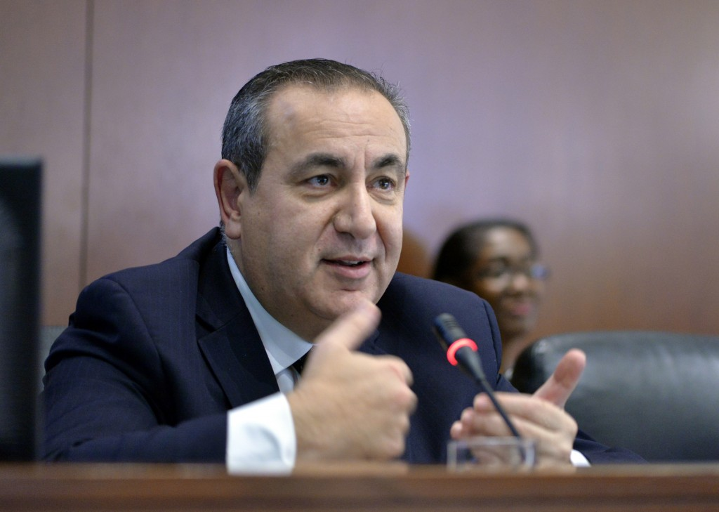 This Nov. 12, 2014 photo made available by the Organization of American States shows Maltese academic Joseph Mifsud during a meeting in Washington, US