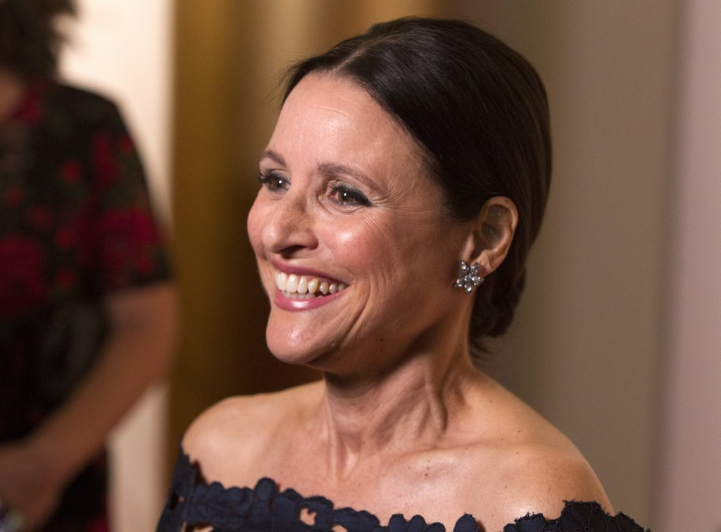 Julia Louis-Dreyfus arrives at the Kennedy Center for the Performing Arts for the 21st Annual Mark Twain Prize for American Humor presented to Julia L