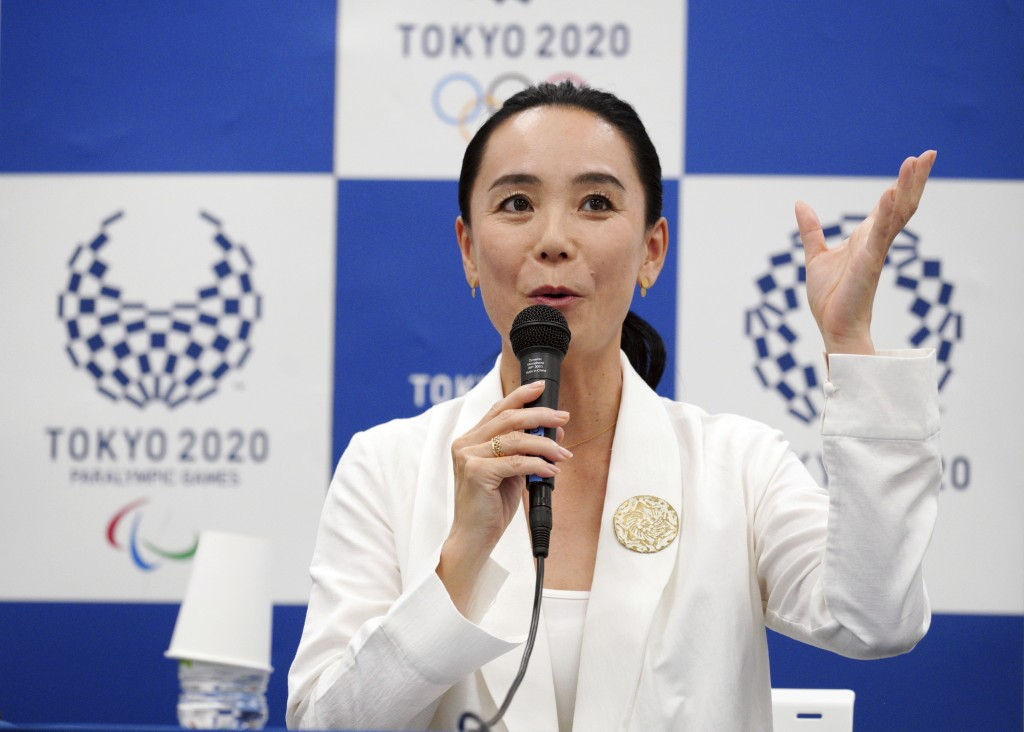 Japanese film director Naomi Kawase speaks during a press conference in Tokyo, Tuesday, Oct. 23, 2018. Kawase was named to make the documentary film a...