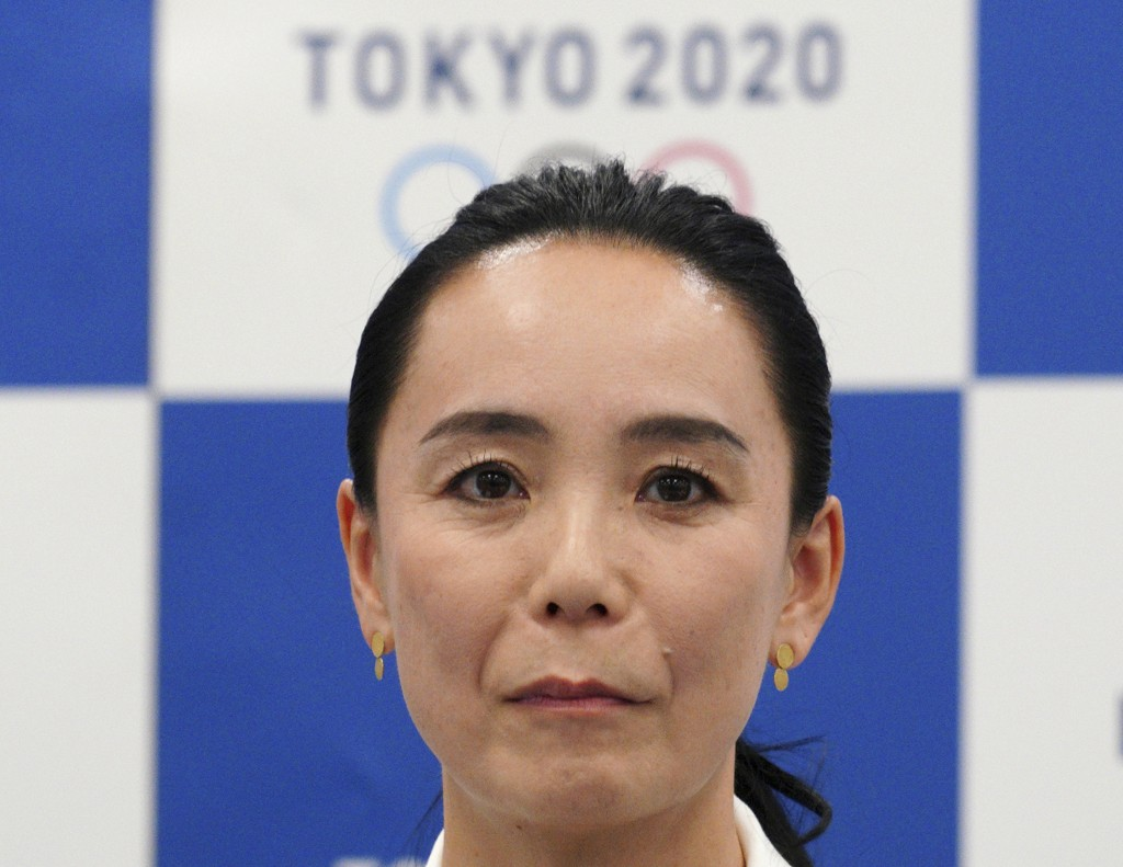 Japanese film director Naomi Kawase attends a press conference in Tokyo, Tuesday, Oct. 23, 2018. Kawase was named to make the documentary film about T...