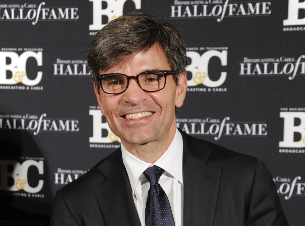 FILE - This Oct. 20, 2014 file photo shows George Stephanopoulos at the 24th Annual Broadcasting and Cable Hall of Fame Awards in New York. ABC News s...