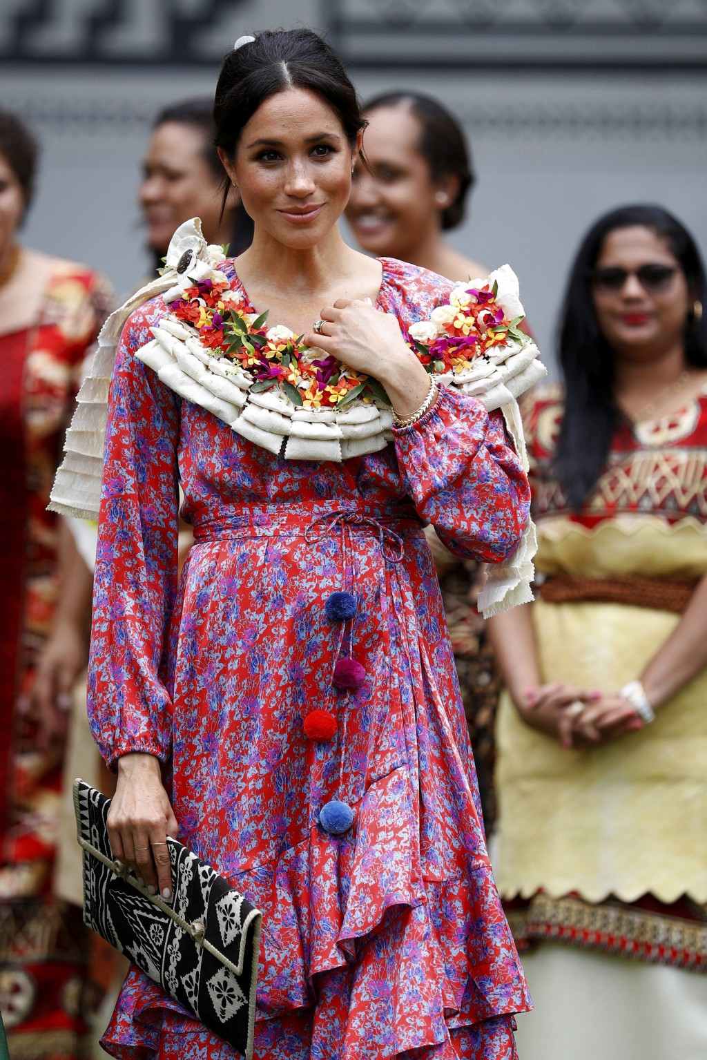 Meghan, Duchess of Sussex visits the University of the South Pacific in Suva, Fiji, Wednesday, Oct. 24, 2018. Prince Harry and his wife Meghan are on ...