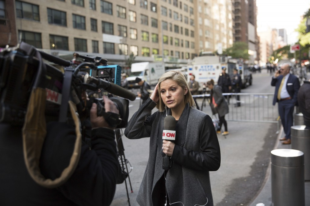 CNN correspondent Kate Bolduan reports from in front of the Time Warner Building where NYPD personnel removed an explosive device Wednesday Oct. 24
