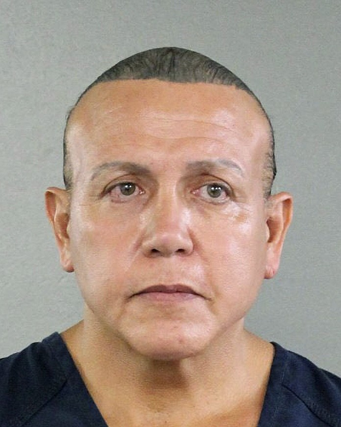 FILE - This Aug. 30, 2015, file photo released by the Broward County Sheriff's office shows Cesar Sayoc in Miami. Pipe bomb suspect Sayoc is making hi