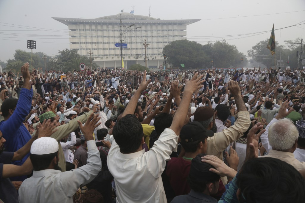 Radical Islamists rally to condemn a Supreme Court decision that acquitted Asia Bibi, a Christian woman, who spent eight years on death row accused of...