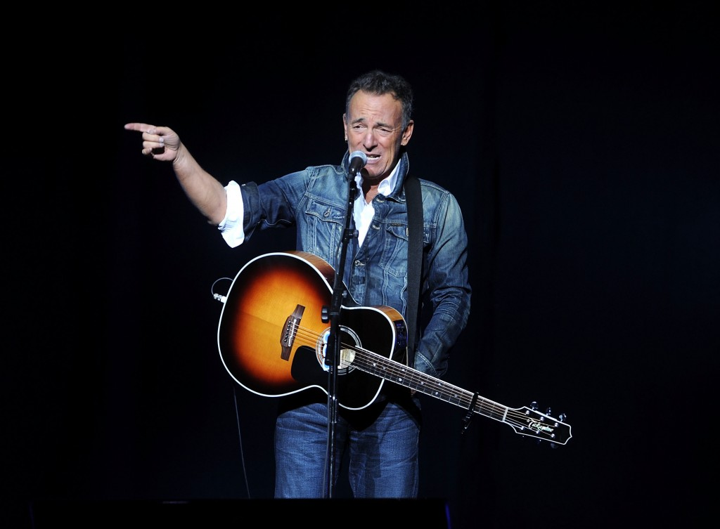 Bruce Springsteen performs at the 12th annual Stand Up For Heroes benefit concert at the Hulu Theater at Madison Square Garden on Monday, Nov. 5, 2018