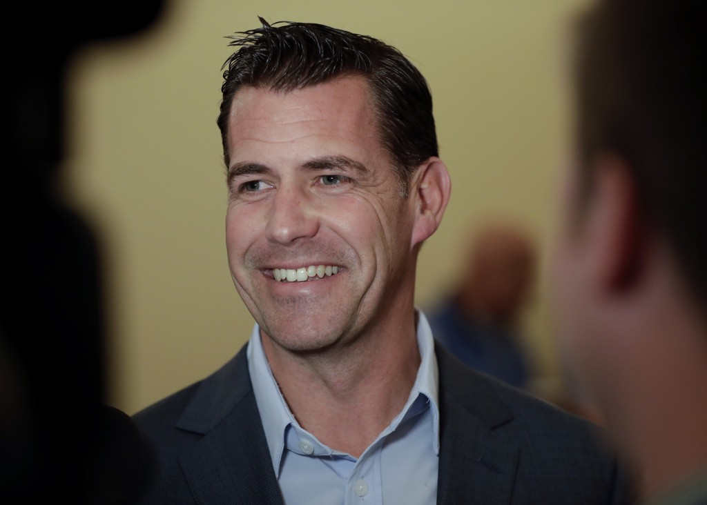 New York Mets general manager Brodie Van Wagenen speaks to reporters during the baseball GM meetings Wednesday, Nov. 7, 2018, in Carlsbad, Calif. (AP