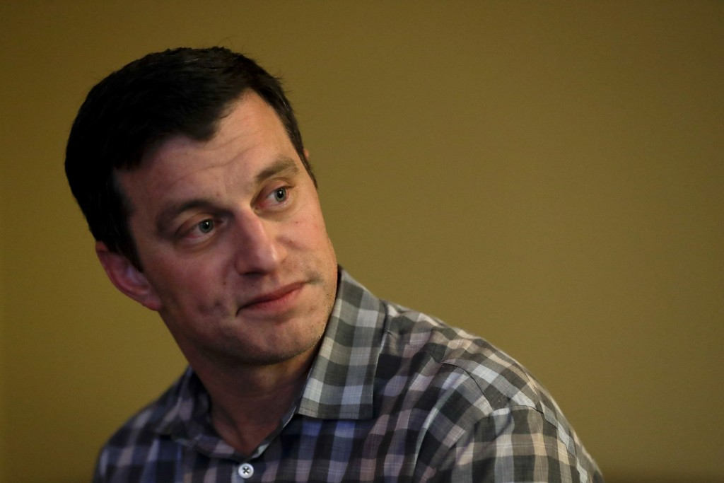 Los Angeles Dodgers president of baseball operations Andrew Friedman speaks to reporters during the Major League Baseball General Manager Meetings Wed