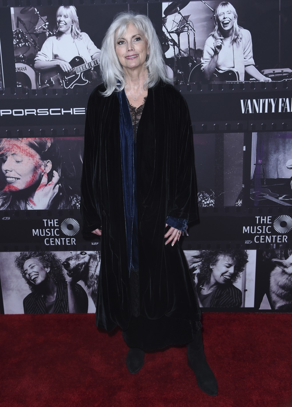 Emmylou Harris arrives at JONI 75: A Birthday Celebration on Wednesday, Nov. 7, 2018, at the Dorothy Chandler Pavilion in Los Angeles. (Photo by Richa
