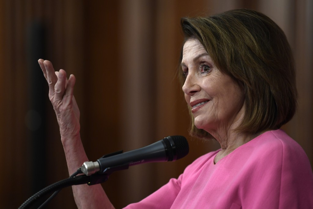 House Minority Leader Nancy Pelosi of Calif., speaks during a news conference on Capitol Hill in Washington, Wednesday, Nov. 7, 2018. (AP Photo/Susan
