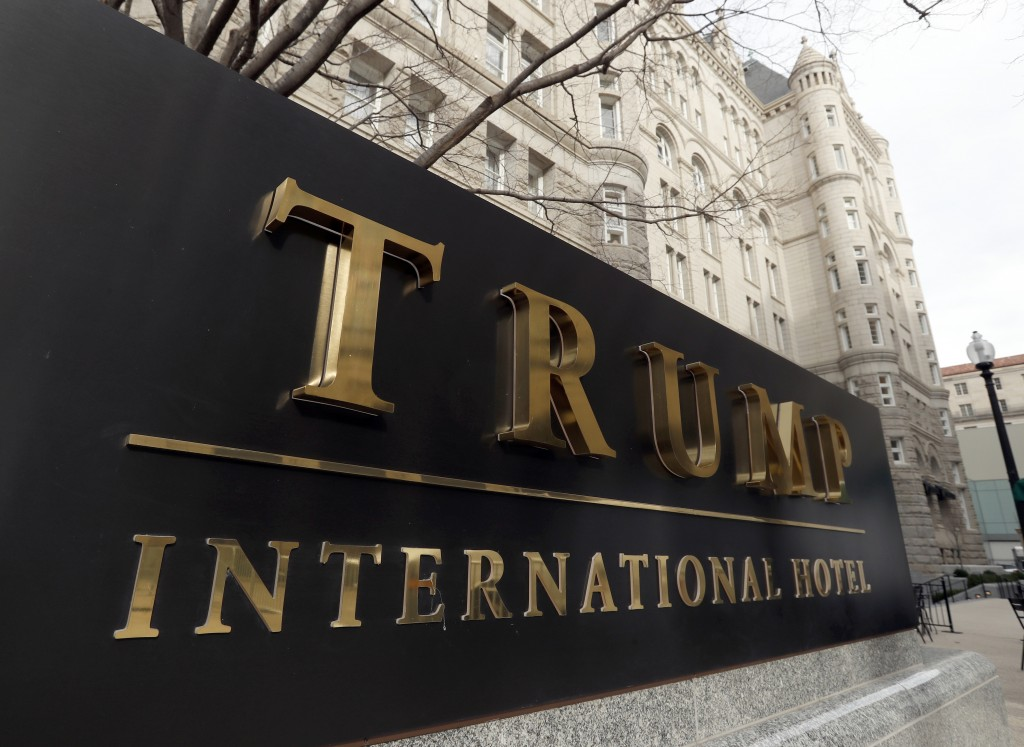 FILE - In this Dec. 21, 2016, file photo, The Trump International Hotel at 1100 Pennsylvania Avenue NW, is photographed in Washington. House Democrats