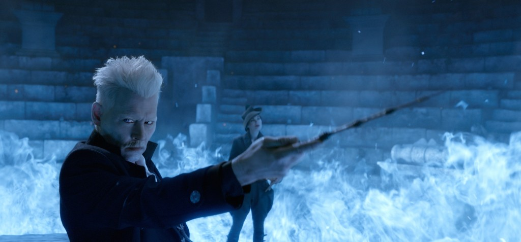 """This image released by Warner Bros. Pictures shows Johnny Depp in a scene from """"Fantastic Beasts: The Crimes of Grindelwald."""" (Warner Bros. Pictures v..."""