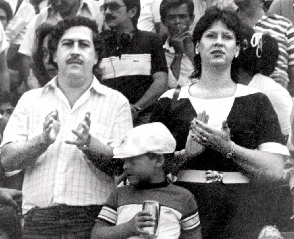 FILE - In this undated file photo, the late Pablo Escobar, former boss of the Medellin drug cartel, his wife Maria Henao and their son Juan Pablo, att