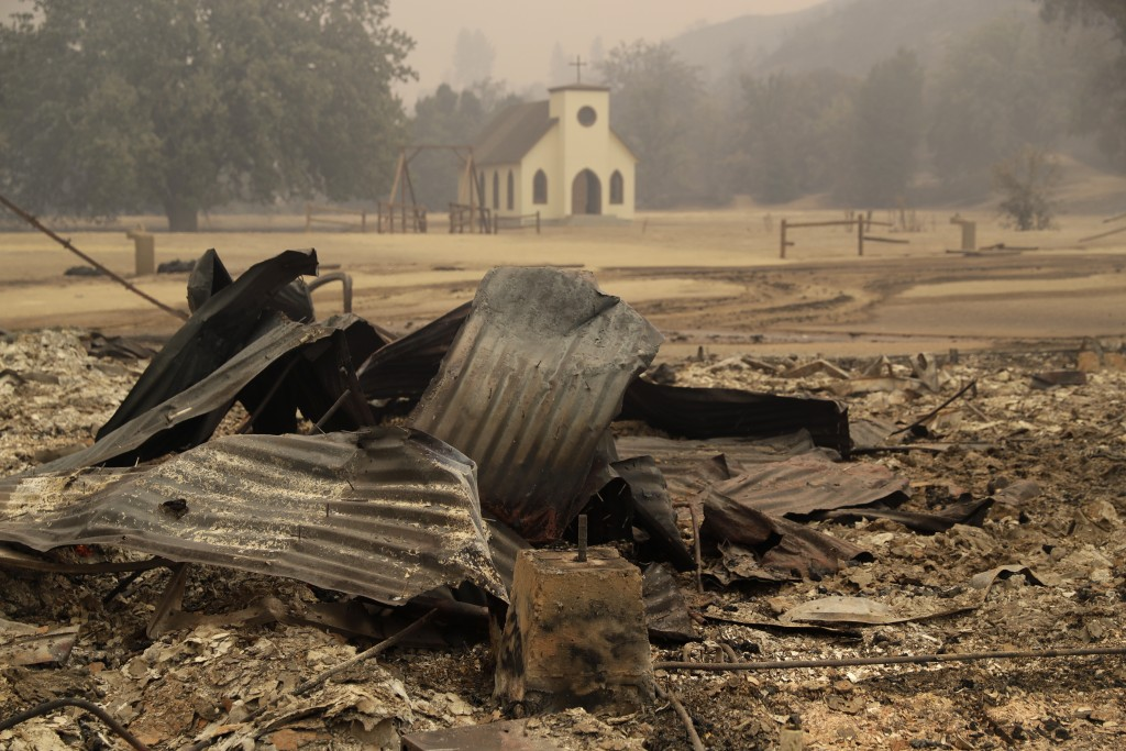 Paramount Ranch, where a number of Hollywood westerns have been filmed, is seen after it was decimated by a wildfire Friday, Nov. 9, 2018, in Augura H
