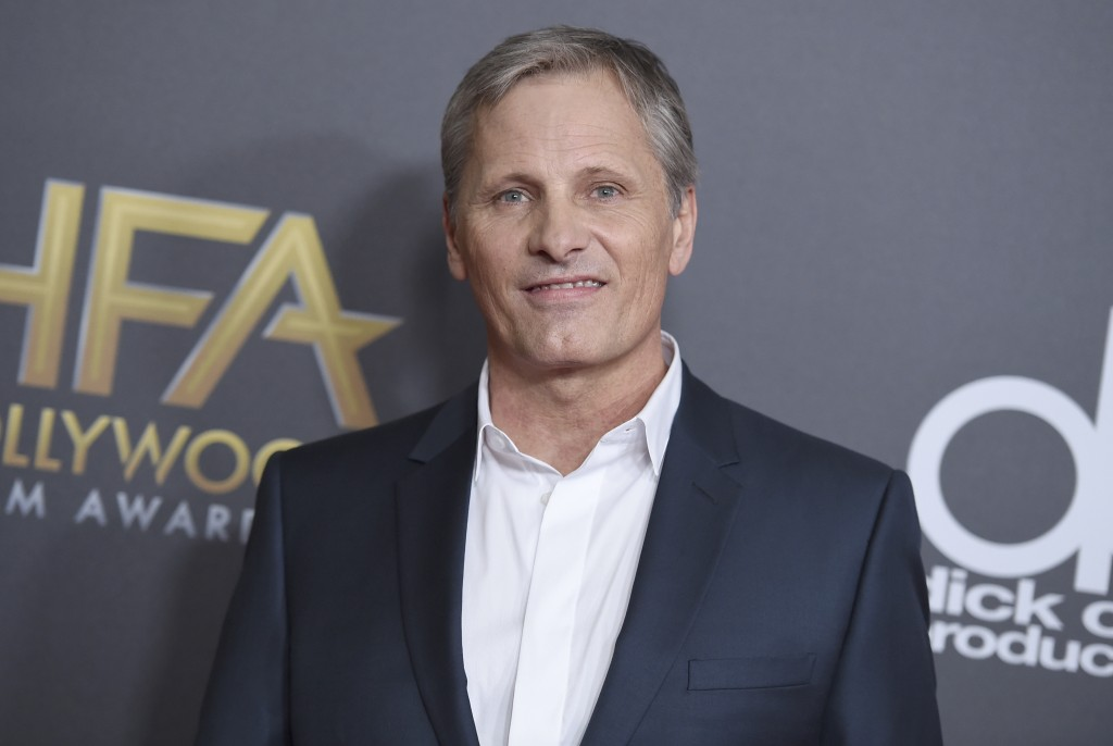 FILE - In this Nov. 4, 2018 file photo, Viggo Mortensen arrives at the Hollywood Film Awards in Beverly Hills, Calif. Mortensen has apologized for usi