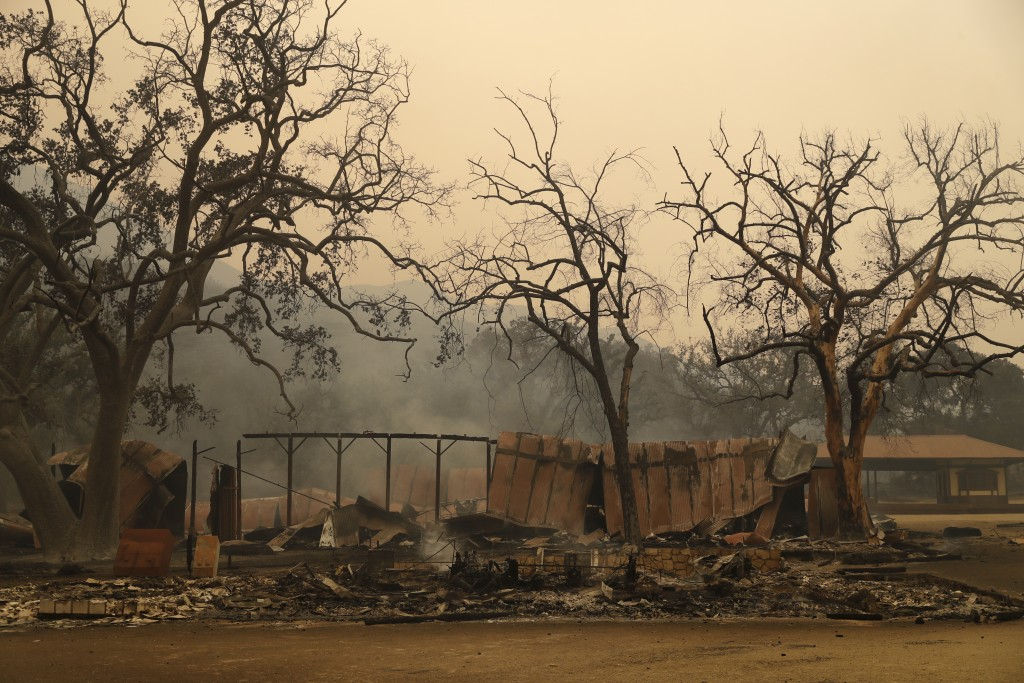 Paramount Ranch, where a number of Hollywood westerns have been filmed, is seen after it was decimated by a wildfire Friday, Nov. 9, 2018, in Agoura H