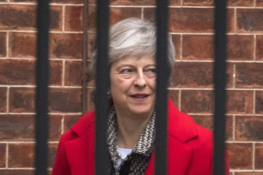 Britain's Prime Minister Theresa May leaves Downing Street in London, Friday, Nov. 16, 2018. May appealed directly to voters to back her Brexit plan F