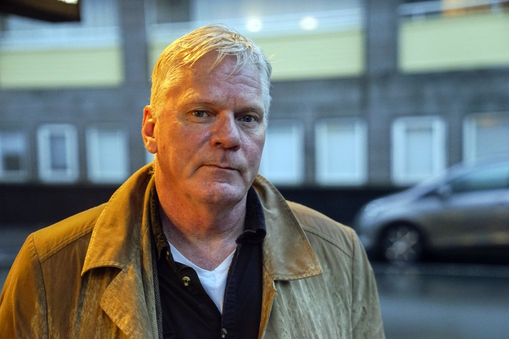 WikiLeaks editor-in-chief Kristinn Hrafnsson poses for a photograph in Reykjavik, Iceland on Friday, Nov. 16, 2018. Hrafnsson says that the news that