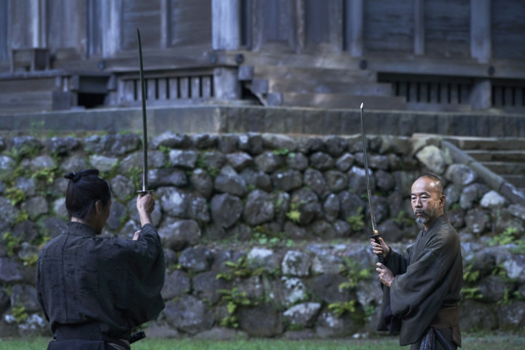 "This photo provided by Nikkatsu Corp., shows Shinya Tsukamoto, right, playing a samurai in the film that he directed ""Killing.""  Japanese filmmaker Ts"