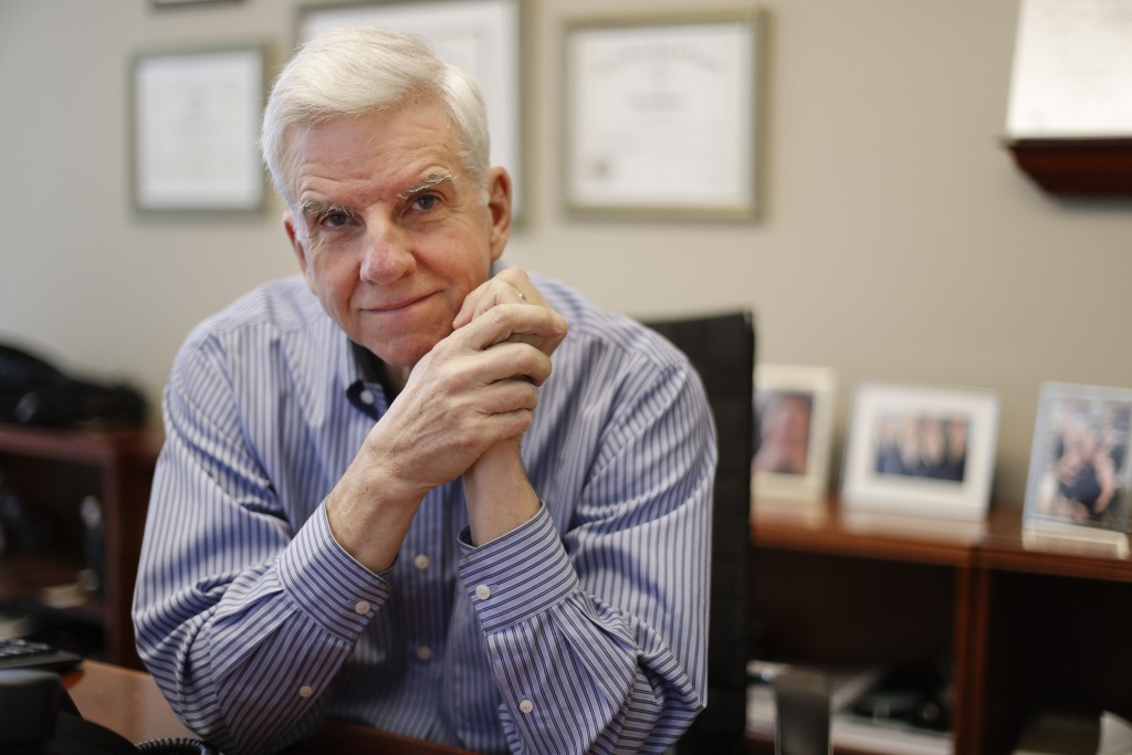 Attorney Mark Patterson poses in his law firm's offices Thursday, Nov. 15, 2018, in Nashville, Tenn. The recent turbulence in the U.S. stock markets i...