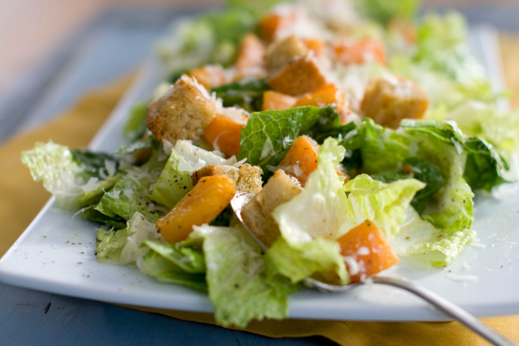 FILE - This Jan. 24, 2012, file photo shows a Caesar salad with romaine lettuce. Food regulators are urging Americans not to eat any romaine lettuce b...