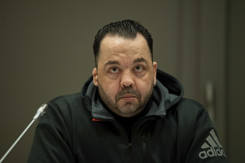 Defendant Niels Hoegel who is charged with the killing of 100 patients as nurse on an intensive care unit waits for the beginning of the third day of