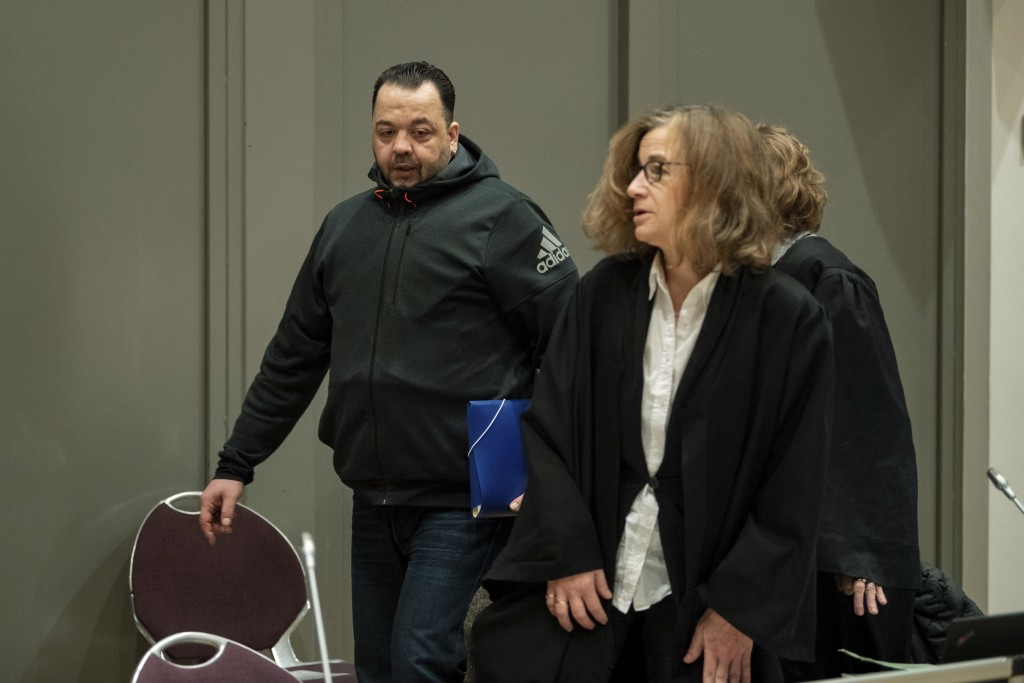Defendant  Niels Hoegel who is charged with killing 100 patients as nurse on an intensive care unit arrives for the third day of his trial with Kirste...