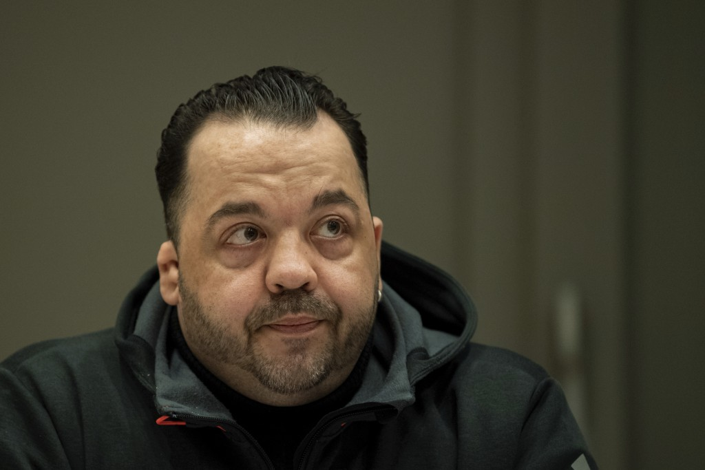 Defendant Niels Hoegel who is charged with the killing of 100 patients as nurse on an intensive care unit waits for the beginning of the third day of ...