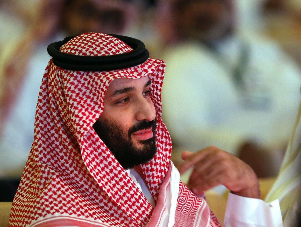 FILE - In this Oct. 24, 2018, file, photo, Saudi Crown Prince Mohammed bin Salman attends the second day of the Future Investment Initiative conferenc
