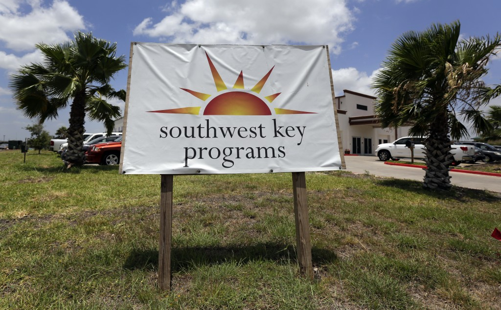 FILE- This June 20, 2014 file photo shows the Southwest Key-Nueva Esperanza, in Brownsville, Texas, a facility that shelters unaccompanied immigrant c...