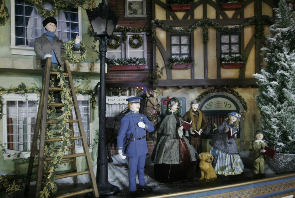 FILE - In this Nov. 15, 2006 file photo, a holiday window display is shown at Lord & Taylor's flagship store on Fifth Avenue in New York.For generatio