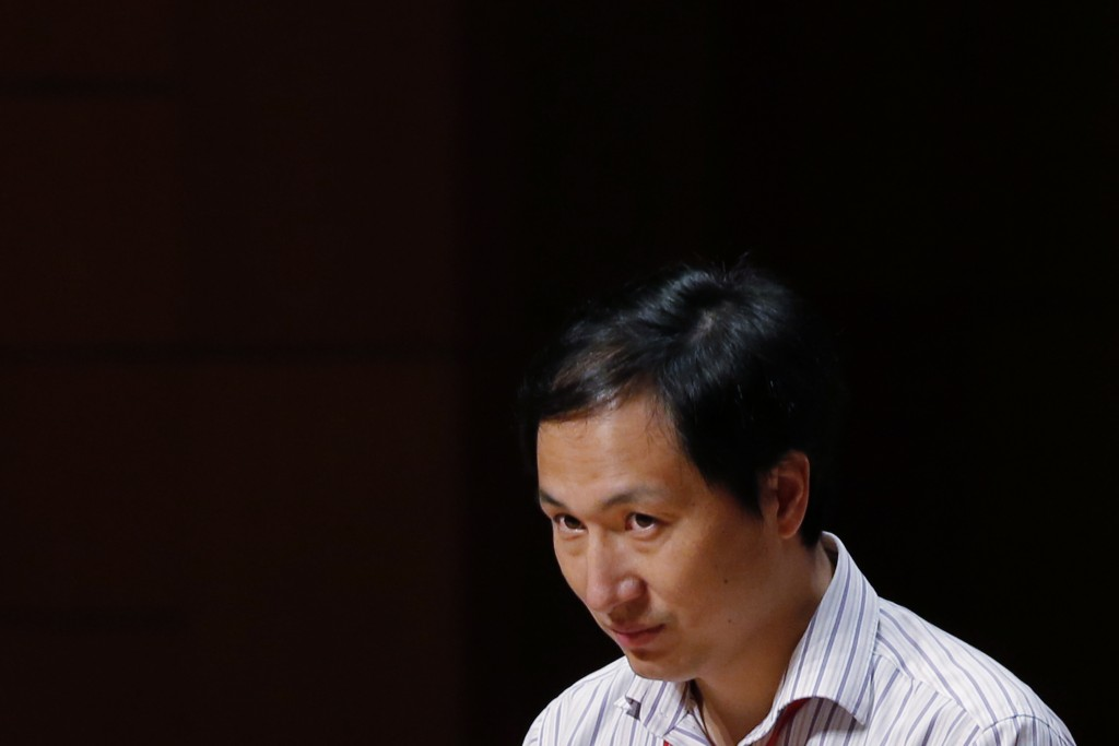 He Jiankui, a Chinese researcher, speaks during the Human Genome Editing Conference in Hong Kong, Wednesday, Nov. 28, 2018. He claims that he helped m...