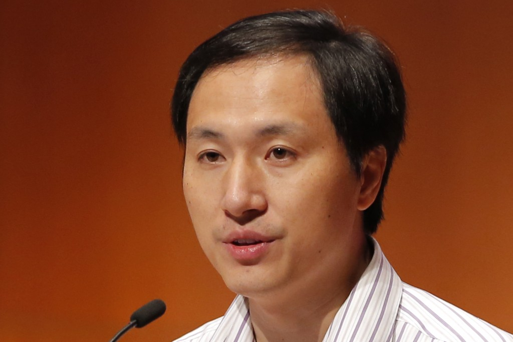 He Jiankui, a Chinese researcher, speaks during the Human Genome Editing Conference in Hong Kong, Wednesday, Nov. 28, 2018. He made his first public c...