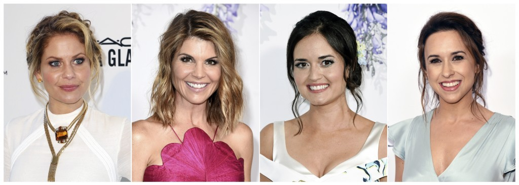This combination photo shows actresses, from left, Candace Cameron Bure, Lori Loughlin , Danica McKellar and Lacey Chabert who are all recurring stars