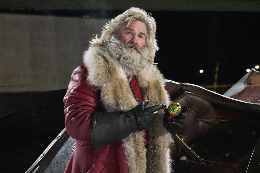 """This image released by Netflix shows Kurt Russell in a scene from """"The Christmas Chronicles,"""" currently streaming on Netflix. (Michael Gibson/Netflix ..."""