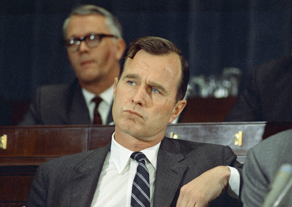 FILE - In this March 6, 1968 file photo, George H.W. Bush, R-Texas, appears in Washington. Bush died at the age of 94 on Friday, Nov. 30, 2018, about ...