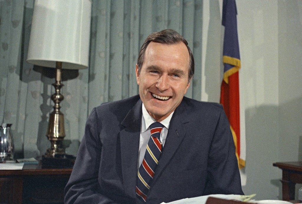 FILE - In this Dec. 18, 1970, file photo, newly appointed United Nations Ambassador George H. Bush smiles. Bush has died at age 94. Family spokesman J