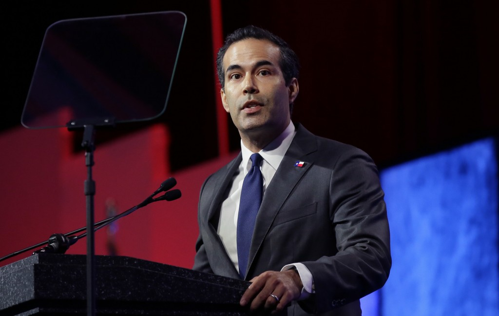 FILE - In this May 12, 2016 file photo, Texas land commissioner George P. Bush speaks at the Texas Republican Convention in Dallas.  The Kennedys had