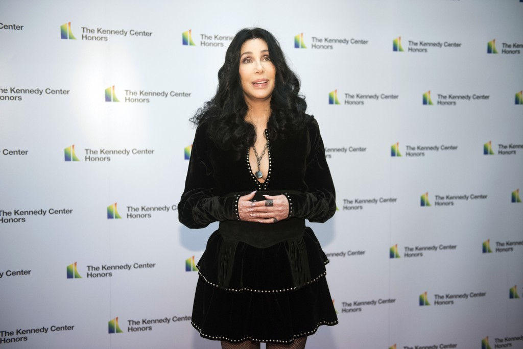 2018 Kennedy Center Honoree Cher arrives at the State Department for the Kennedy Center Honors State Department Dinner on Saturday, Dec. 1, 2018, in W...