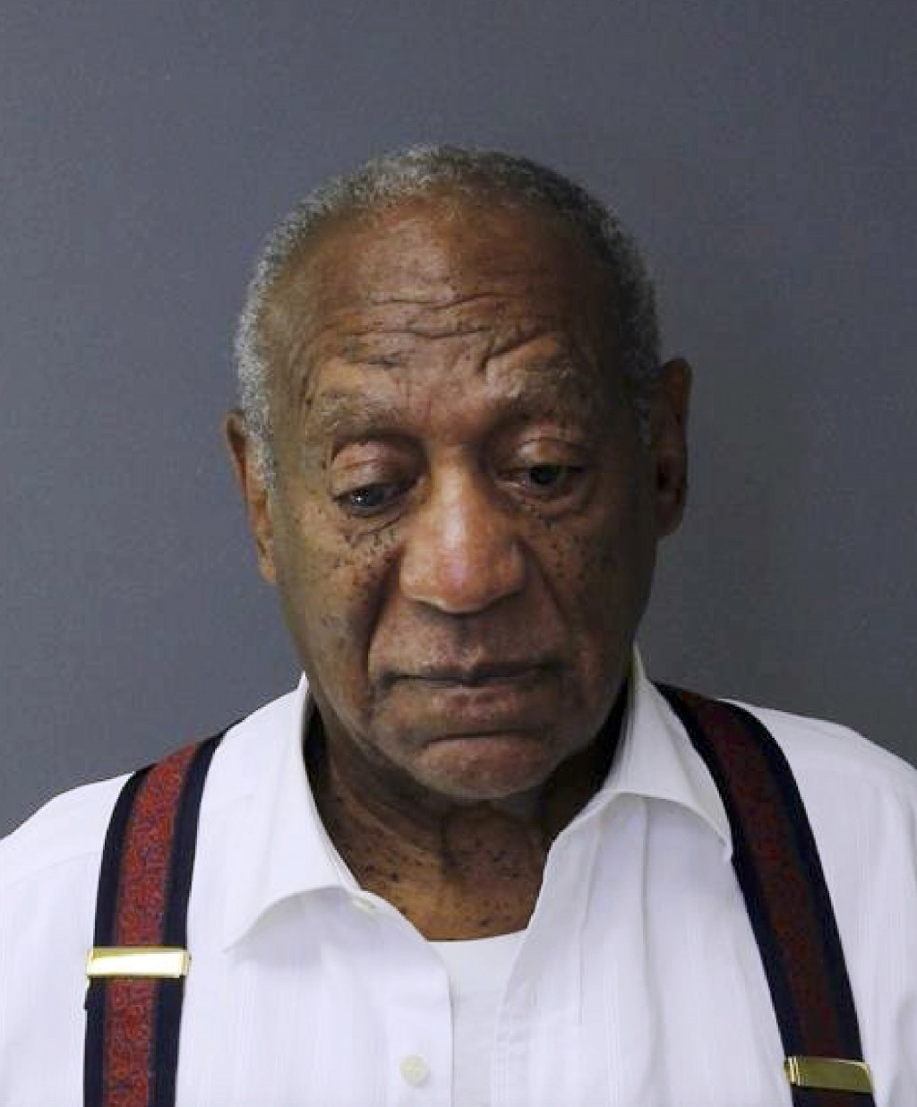 This image provided by the Montgomery County Correctional Facility shows Bill Cosby on Sept. 25, 2018, after he was sentenced to three to 10 years for