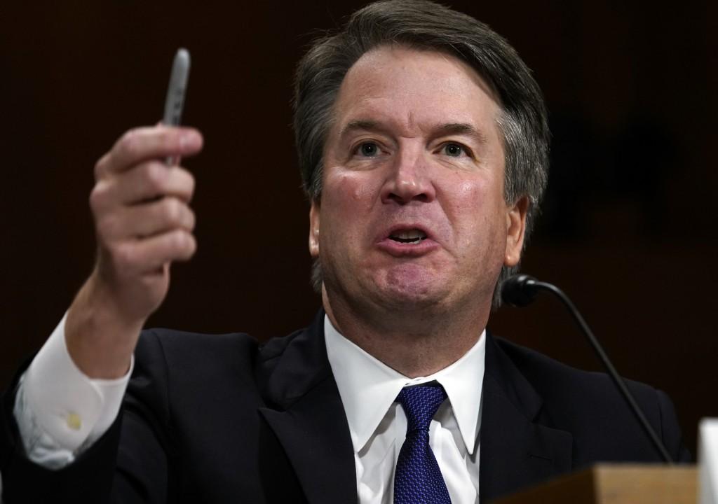 Supreme court nominee Brett Kavanaugh testifies before the Senate Judiciary Committee on Capitol Hill in Washington, Thursday, Sept. 27, 2018. (AP Pho...