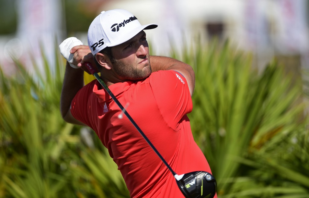 Spain's Jon Rahm hits from the fourth tee during the last round of the Hero World Challenge at Albany Golf Club in Nassau, Bahamas, Sunday, Dec. 2, 20