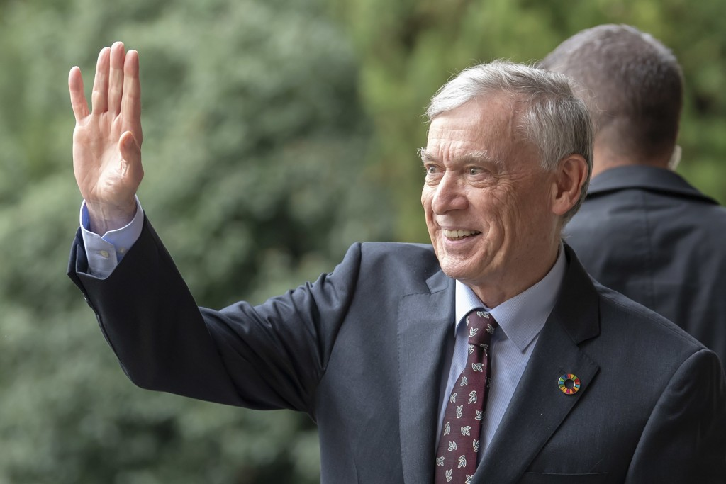 Horst Koehler, Personal Envoy of the Secretary General of the United Nations to the parties to the conflict in Western Sahara, arrives for a round tab