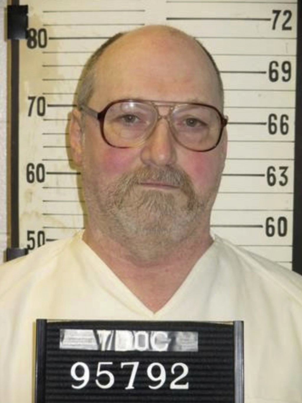 This undated photo provided by the Tennessee Department of Correction shows death row inmate David Earl Miller in Nashville, Tenn. Miller, 61, has bee