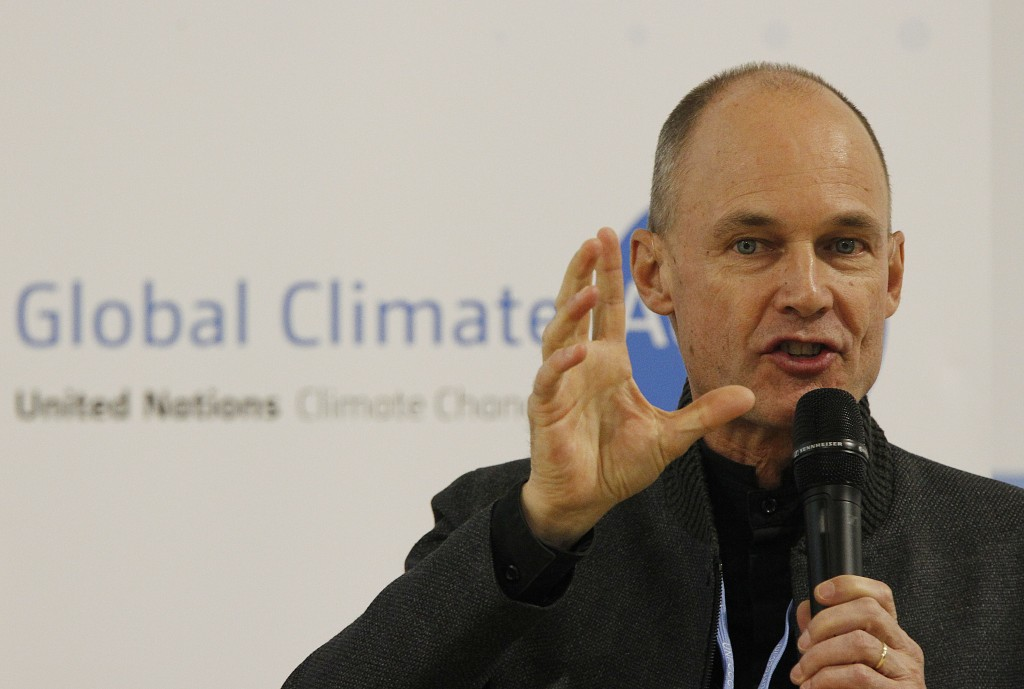 Bertrand Piccard, Swiss pilot and Chairman of the Solar Impulse sun-powered aircraft company attends a press conference during the COP24 summit on cli