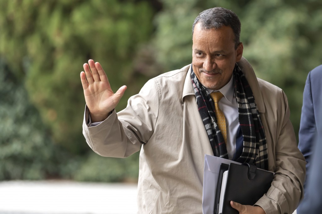 Mauritania's Foreign Minister Ismail Ould Cheikh Ahmed arrives for a round table on Western Sahara at the European headquarters of the United Nations