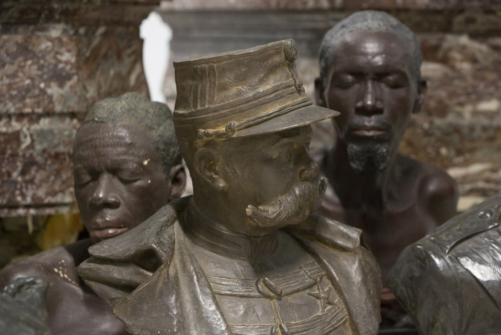 Busts on display at the Africa Museum in Tervuren, Belgium, Friday, Aug. 3, 2018. The museum is reopening on Saturday Dec. 8, 2018, after more than 10