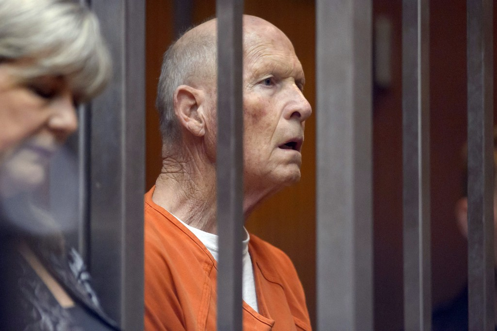 FILE - This Aug. 23, 2018 file photo shows suspected serial killer Joseph James DeAngelo is arraigned in Superior Court in Sacramento, Calif. The tria